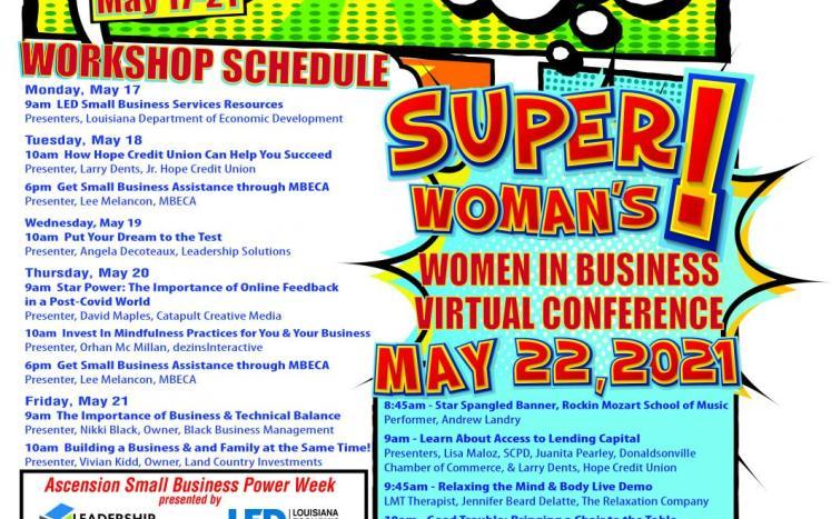 Small Business Week Flyer Schedule
