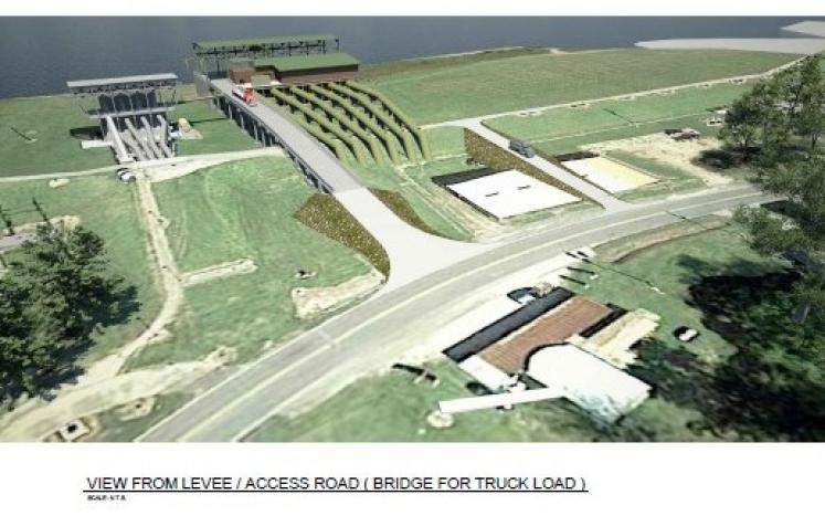Image of Bayou Lafourche Pump Station Rendering